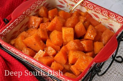 Southern Candied Yams (Sweet Potatoes) - Sweet potatoes baked in a spiced, sugar syrup.