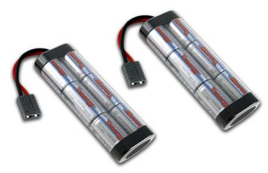 Image of 2 Packs: Tenergy 7.2V 5000mAh High Power Flat NiMH Battery Packs w/ Traxxas Connector