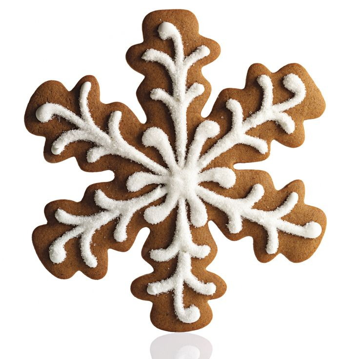 This seven-inch flake, prettier than a gingerbread house or a gingerbread man, is big enough to share -- but who really wants to? Sanding sugar atop piped royal icing gives it an icy sheen.