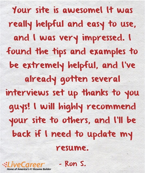 to others and i ll be back if i need to update my resume r home