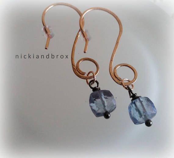 Hammered Rose Gold and Mystic Quartz Earrings (scheduled via http://www.tailwindapp.com?utm_source=pinterest&utm_medium=twpin)
