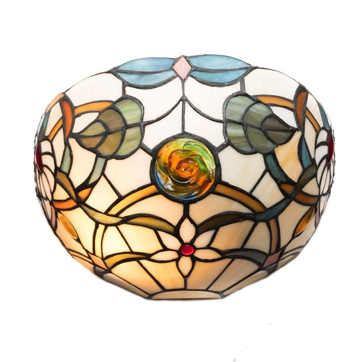 Aplique Tiffany Media Luna Energy led cristal de colores