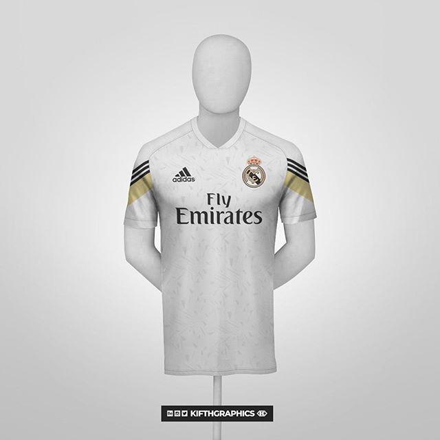 92 Real Madrid X Adidas Concept Kifthgraphics Soccer Shirts Football Shirts Real Madrid