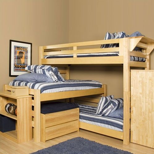 ready made triple bunkbedwe have a triple bunk bed for our girls but its not as cool looking as this one