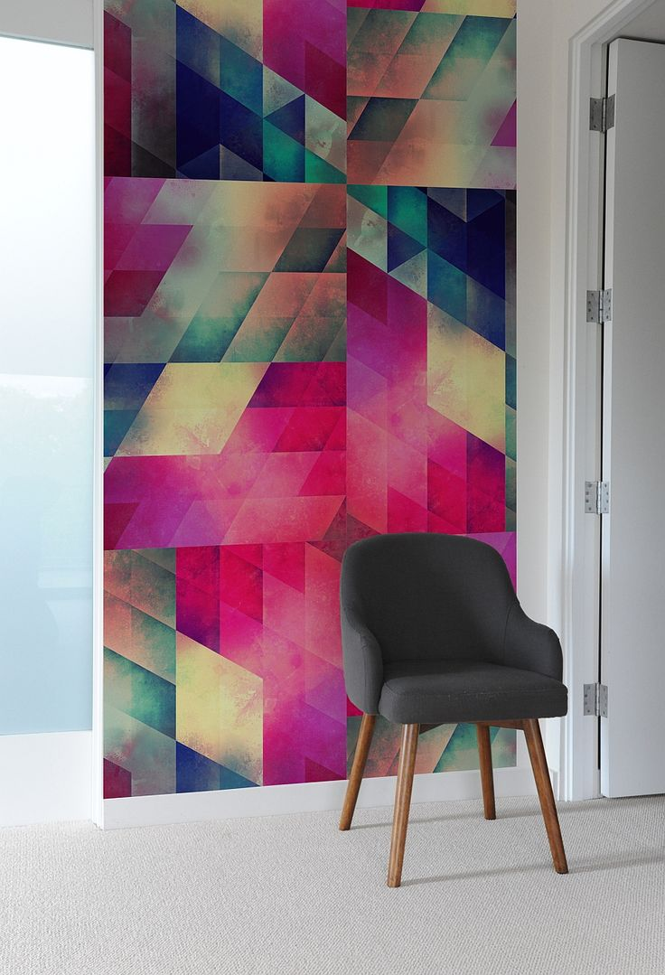 Colorful geometric-patterned wall tiles from Bilk - Decoist pinner: Looks just right for a smaller accent area, especially if the surroundings are muted hues. Just love the tiles!