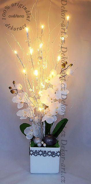 Originální a exkluzivní vánoční dekorace s led diodami.
