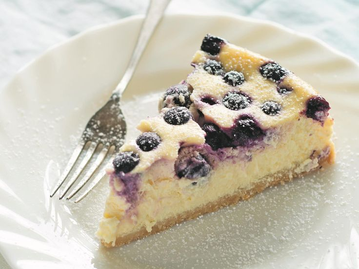 Bringing together sweet blueberries and sour lemons, this simple cheesecake from Anneka Manning's cookbook BakeClass is light but luscious. It's the perfect end to a lazy summer meal.