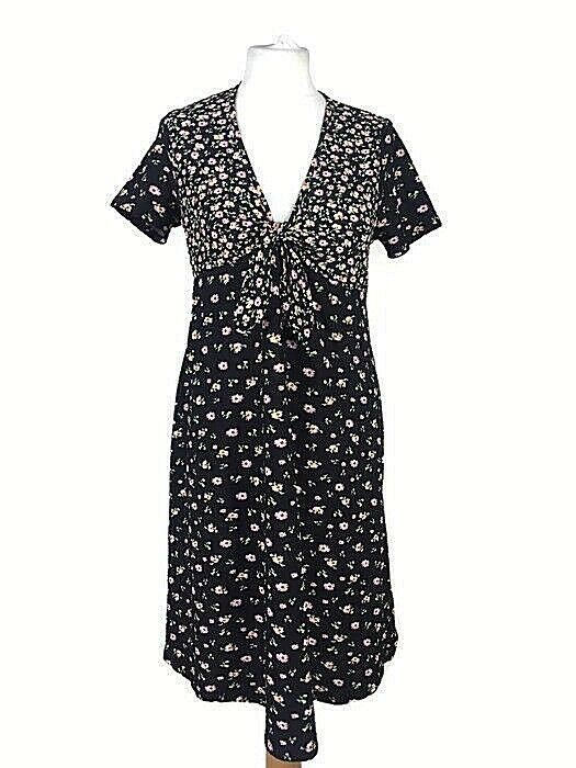 c676535fb177e Topshop MAternity Black Pink Floral Ditsy Summer Babydoll Aline Dress Size  12 #fashion #clothing #shoes #accessories #womensclothing #dresses (ebay  link)