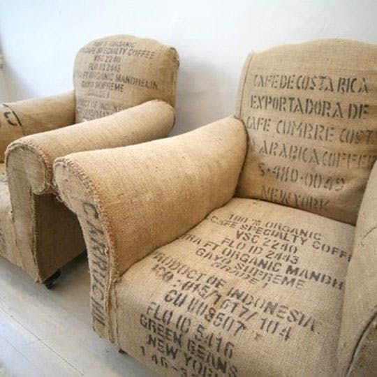 Vintage Coffee Bean Bag Chairs — Maxwell's Daily Find 01.26.11