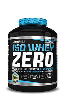 Biotech Iso Whey Zero Chocolate  Biotech Iso Whey Zero Chocolate is made with the purest cross-flow micro filtered whey protein isolate (WPI) possible, Biotech Iso Whey Zero contains ZERO lactose, ZERO trans fat and ZERO added sugar. Biotech Iso Whey ZERO, like all BioTechUSA products, consists of 100% safe, carefully selected nutrients.