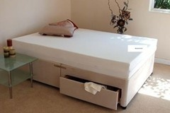 5FT King Size Divan Bed Base only in Stone Colour Suede
