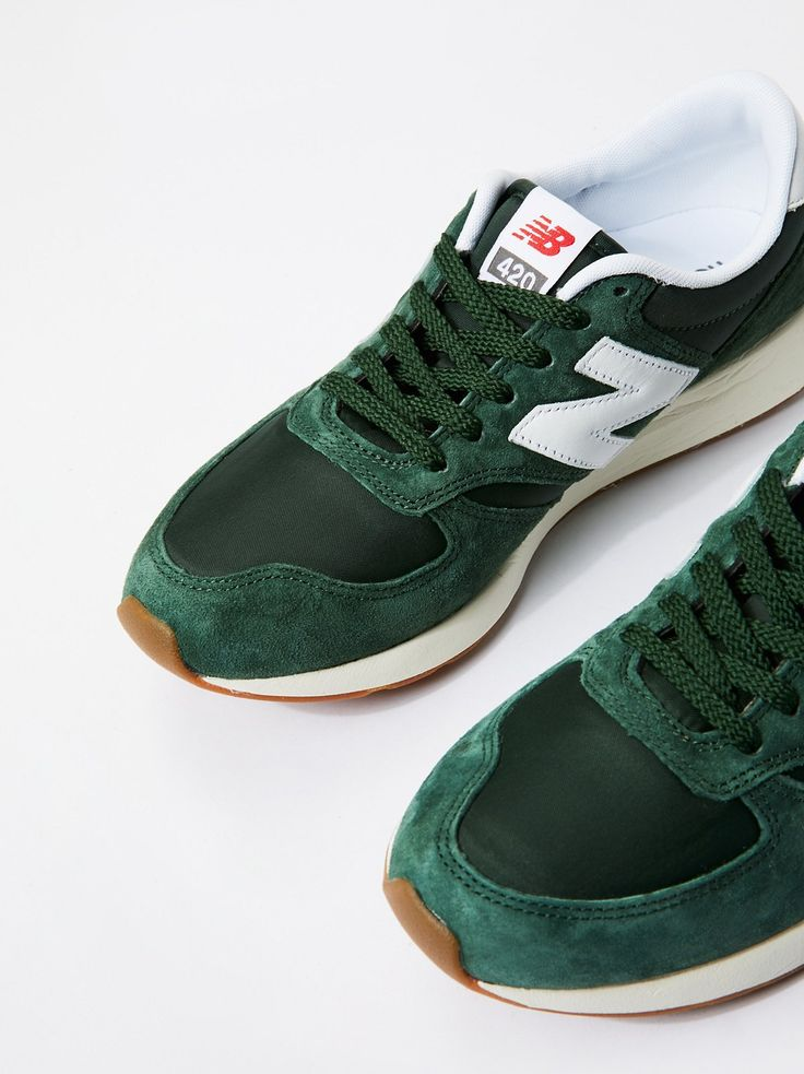 green new balance trainers