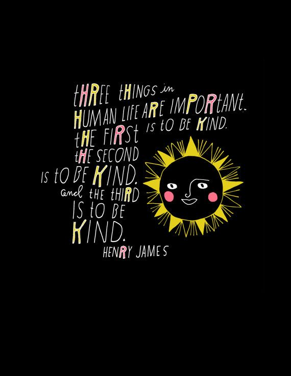 Archival print of hand lettered and illustrated Henry James quote, white, pink and yellow on black. 8.5x11 inches with small white border.    Full