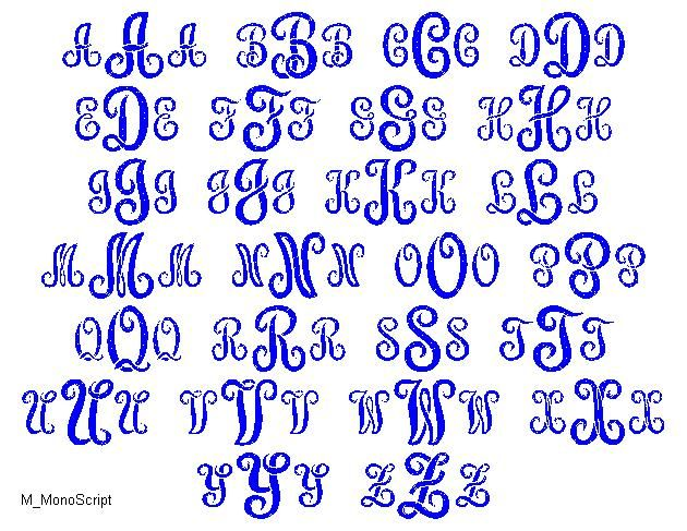 Monogram Fonts Image. nice free fonts for monograms