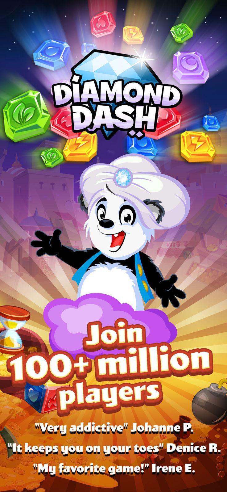Diamond dash gem puzzle game gameswoogaarcadeaction