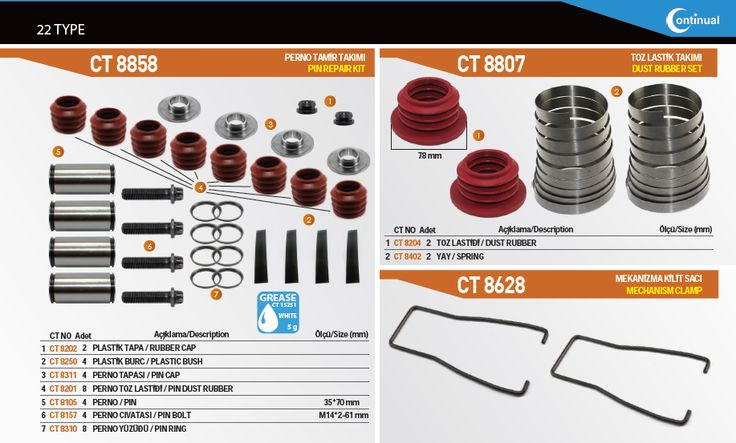 Dust  Rubber Sets For Truck Bus Camion  Brake Caliper Repair Kits