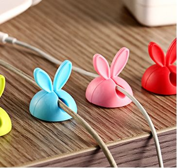 Rabbit ears data line fixed device silica gel cable winder desktop viscose electrical wire winding device wholesale ODF005