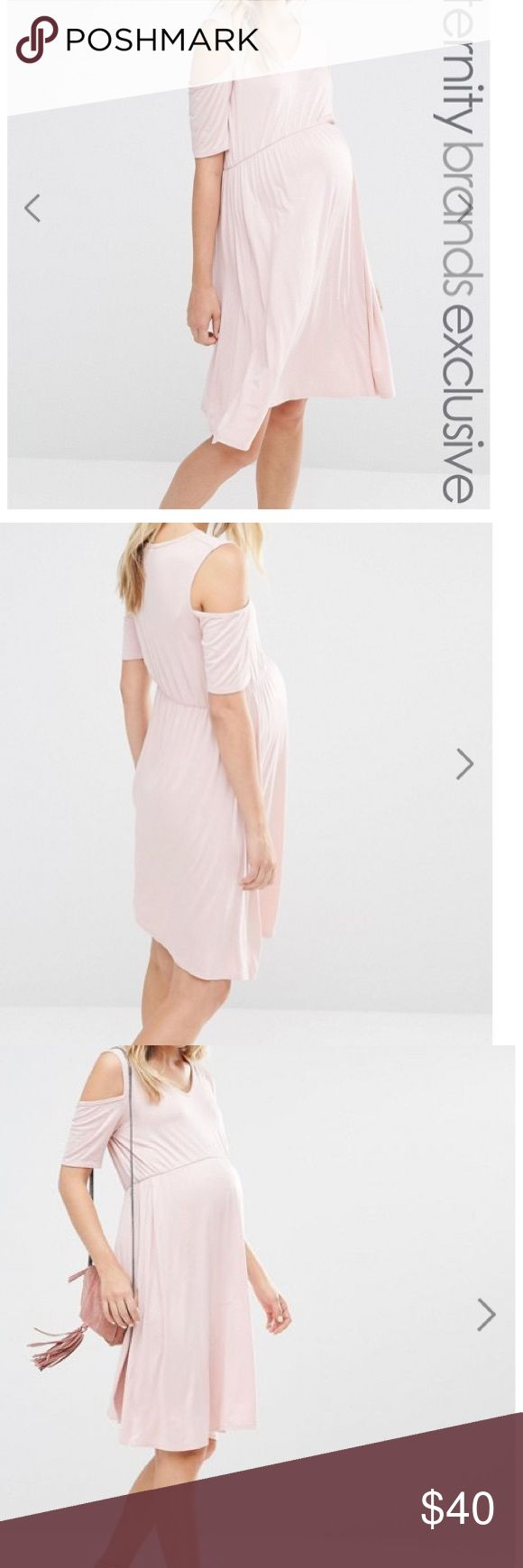 NWT ASOS maternity dress 4 Super soft and comfy US size 4. ASOS size 8. Nude color. Bluebelle maternity from ASOS ASOS Maternity Dresses