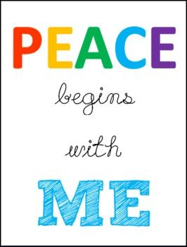 Peace Begins with Me posters