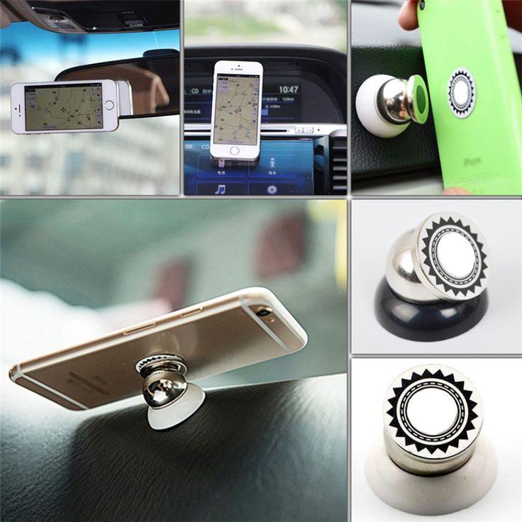 360 graden magnetische auto telefoon houder stand voor iphone6 6 S 5 S 4 s 7 xiaomi magnetische mobiele telefoon houder in auto ondersteuning auto dvr GPS