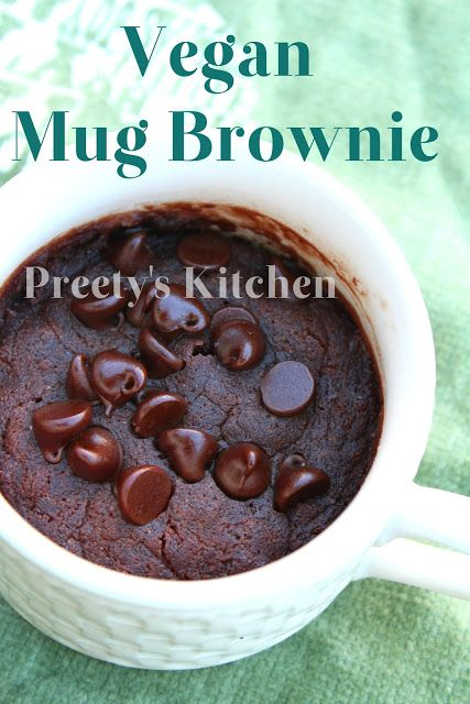 Vegan mug brownie recipe from http://preetyskitchen.blogspot.com/2013/08/vegan-mug-brownie-eggless-single.html.