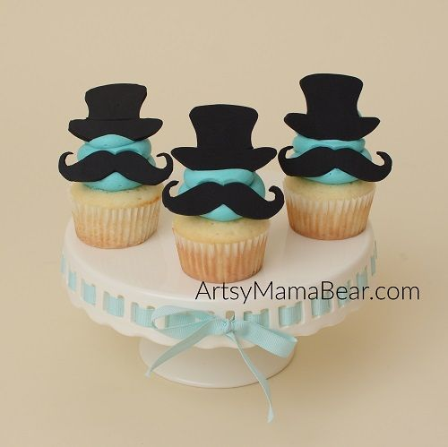 Little man mustache cupcakes, how adorable right?! I had them made for my baby shower, but you could also make these cupcakes for birthdays!