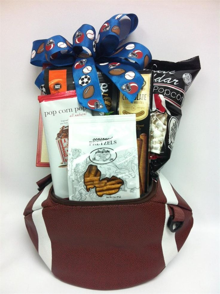 Game Day Snacks Football gift Basket Cooler