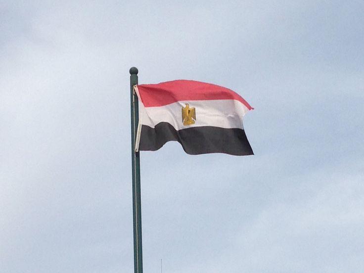 Egipto...la bandera revolucionaria de 1952 se convirtió en base de la bandera de liberación arabe adoptada  en 1958 y esta en la actual bandera egipcia.