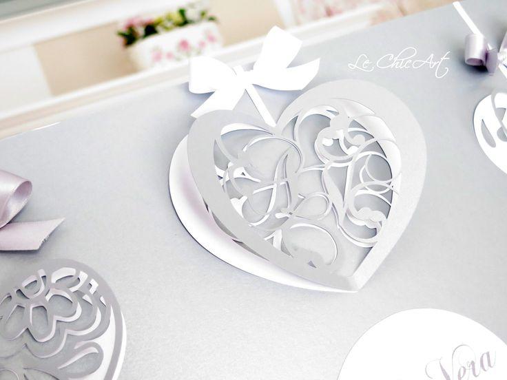 Linea cuori Loveli in bianco e grigio perla