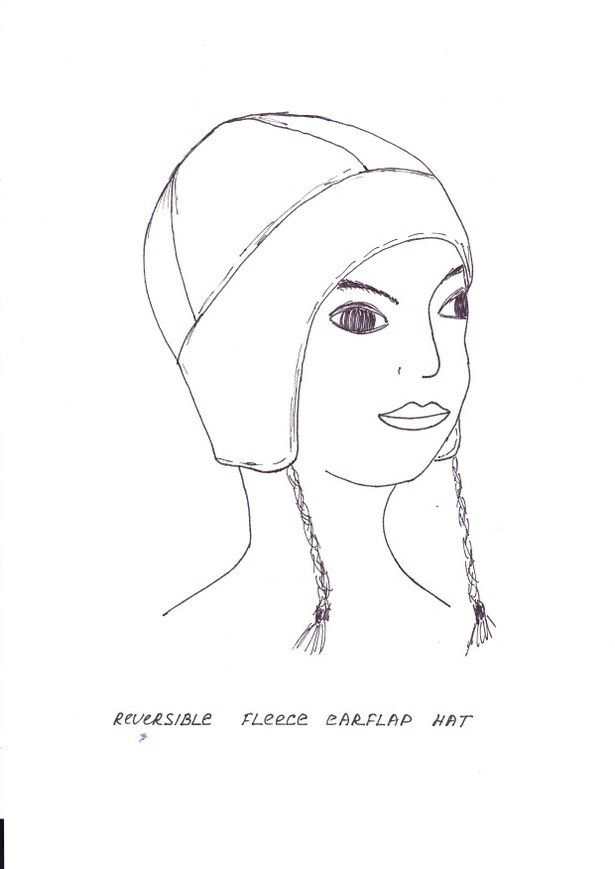 Reversible Fleece Earflap Hat Pattern