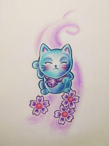 37 best tattoo art images on pinterest maneki neko tattoo art and cat tattoos. Black Bedroom Furniture Sets. Home Design Ideas