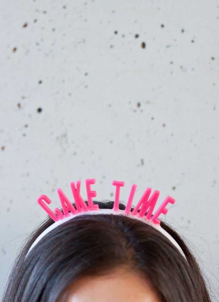 So cute | DIY birthday headbands