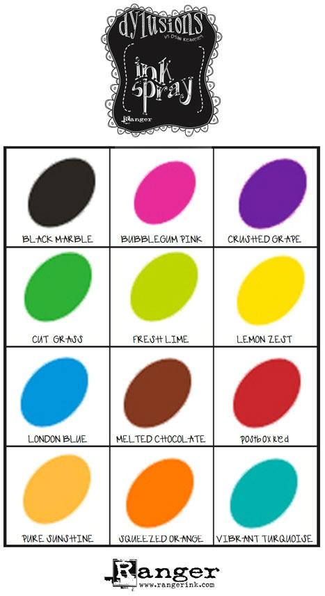 Dylusions Paints Colour Chart