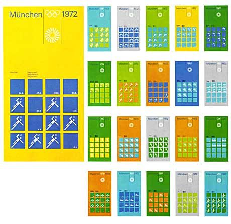 """""""Einheit in der Vielfalt"""" wurde zum Schlüsselprinzip in der Planung und Umsetzung des visuellen Erscheinungsbildes für die Olympischen Spiele 1972."""