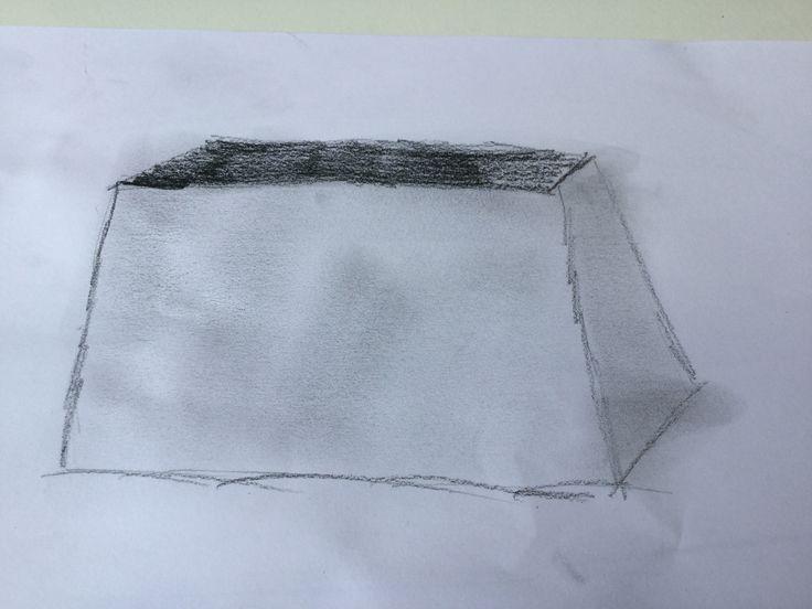 Met deze tekening wilde ik uitproberen wat voor effect je krijgt als je het donker grijs zou uitsmeren. Dit is het effect er van