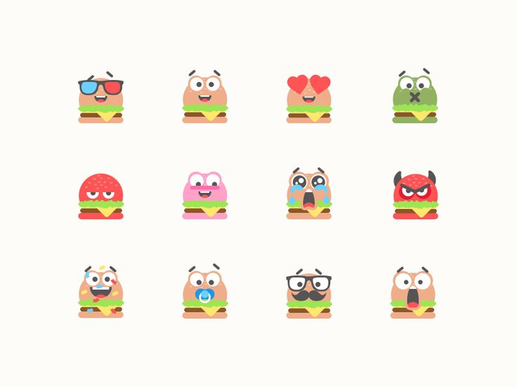 Hey Dribblers, who does not love burgers?.. but have you seen an angry, inlove or hipster burger? Now you do.  Which one is your favorite? Share some L-ove!  Check out my previous emojis: Poop Set ...