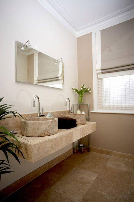 Natural stone en-suite bathroom - traditional yet contemporary