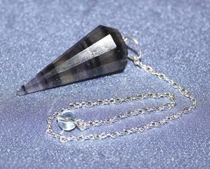 Fluorite Faceted Pendulum