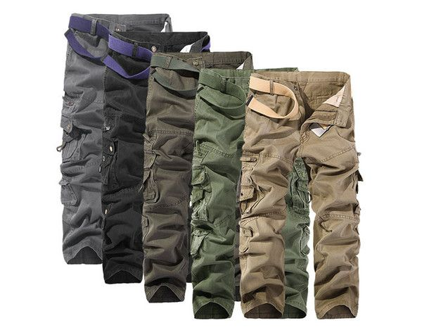 Manner Cargohose Khaki Beilaufige Tarnung Der Manner Multi Pocket Hosen Lange Military Armee Arbe In 2020 Hosen Camouflage Camouflage Hosen