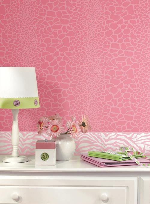 Animal Prints For Girls At Http://lelandswallpaper.com Zebra Print Wall  Border