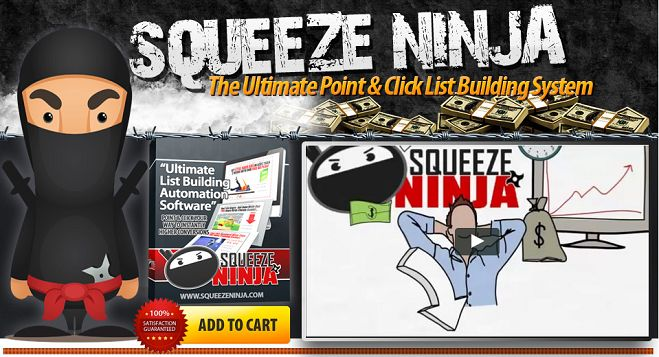 Squeeze ninja - The fastest & easiest squeeze funnel builder