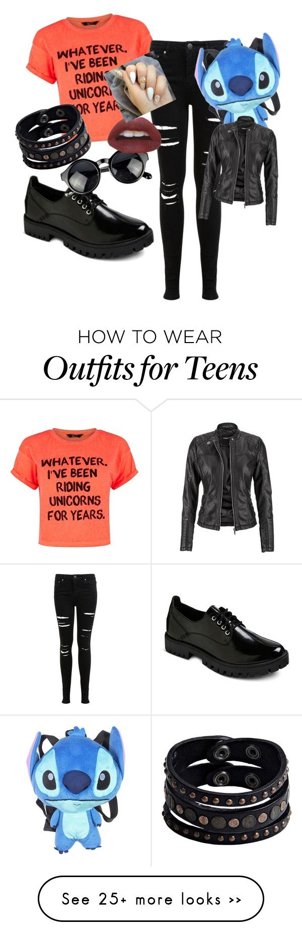 """Unicorn rider"" by pandoala on Polyvore featuring moda, Miss Selfridge, Disney, Replay y maurices"