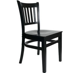 Restaurant Chairs - BFM Seating - Delran Black Wood - Wood Seat for sale from Classroom Essentials Online