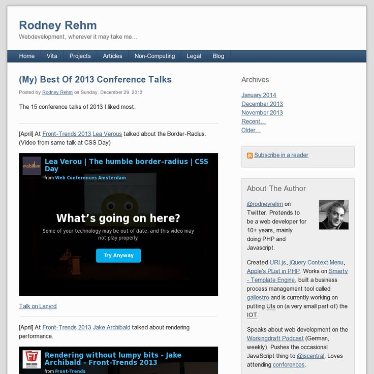 Best Of 2013 Conference Talks