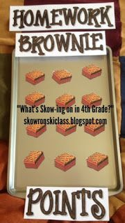 Earn a brownie each time the whole class turns in homework... a dozen brownies gets a whole class prize!