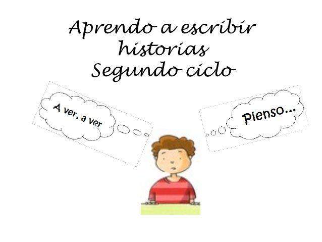 Aprendo a escribir historias 2º ciclo by Pilar Moro  via slideshare