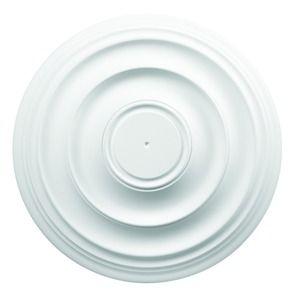Wickes White 400mm Polyurethane Plain Ceiling Rose