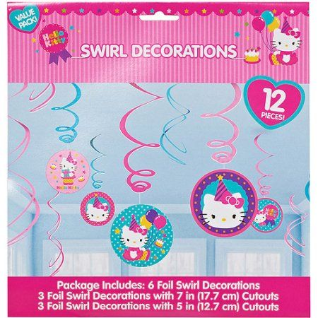 Hello Kitty Hanging Party Decorations, Party Supplies, Pink