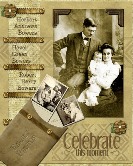 Celebrate This Moment ~ When you are lucky enough to have great heritage photos, keep the page simple and let them shine!