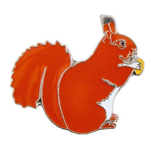 3€ (ledenprijs 2.70€) - Natuurpunt.be - Pin Eekhoorn / European red squirrel metal pin